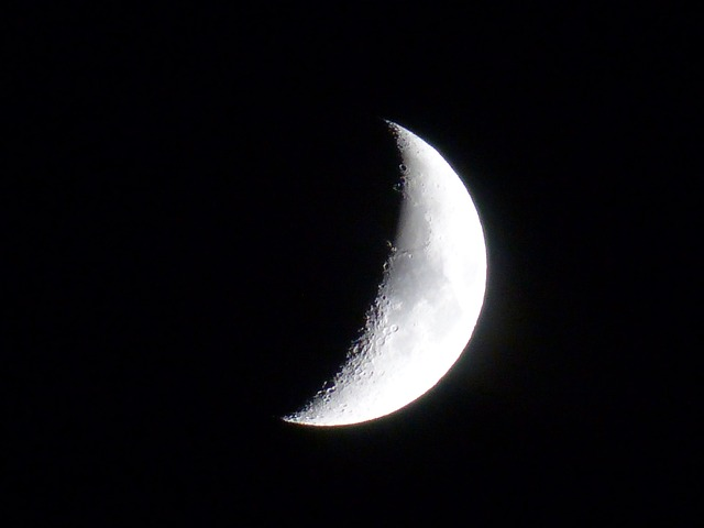 crescent shaped moon