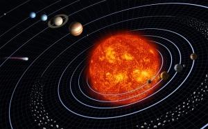 sun in solar system