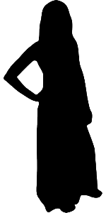 woman black clothes