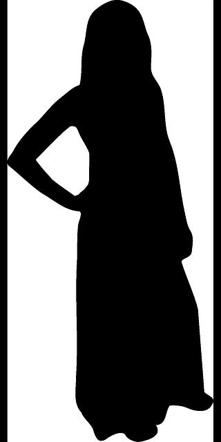 woman black clothes