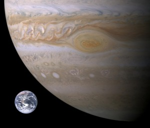 jupiter earth size