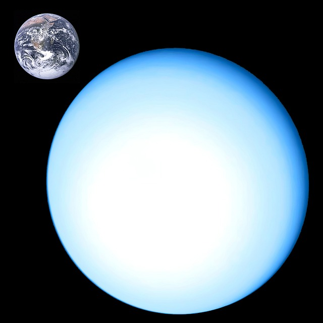 uranus earth