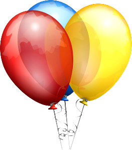 helium party balloons
