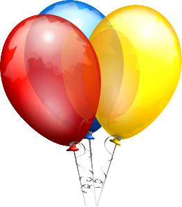 helium party balloons