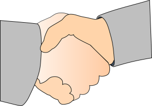shaking hands Louis Pasteur