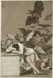 de Goya - the sleep of reason produces monsters