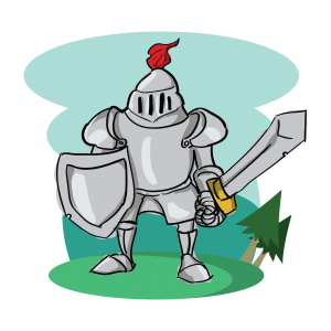 knight with sword