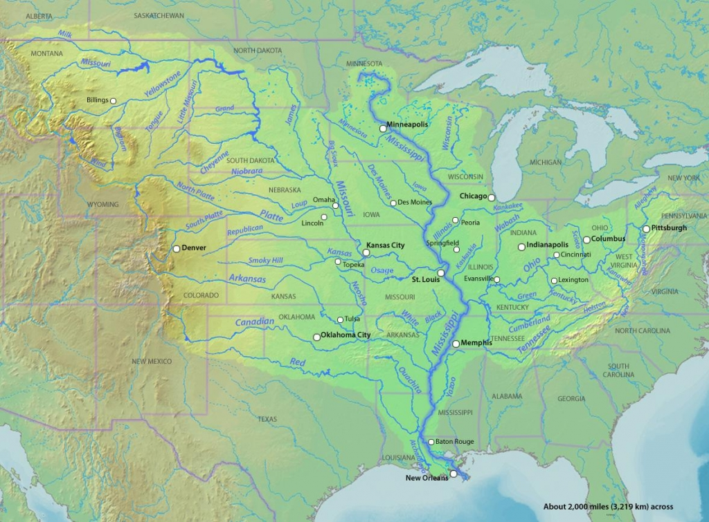 Two Longest Rivers In The United States