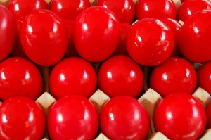 bright-red-eggs
