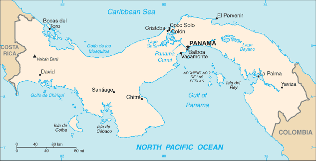 Panama Location