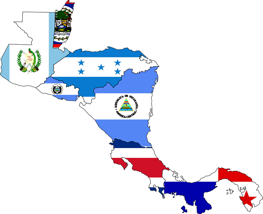 central-america-map-flags