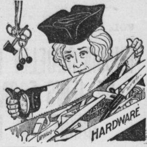 George Washington with a saw (cartoon)
