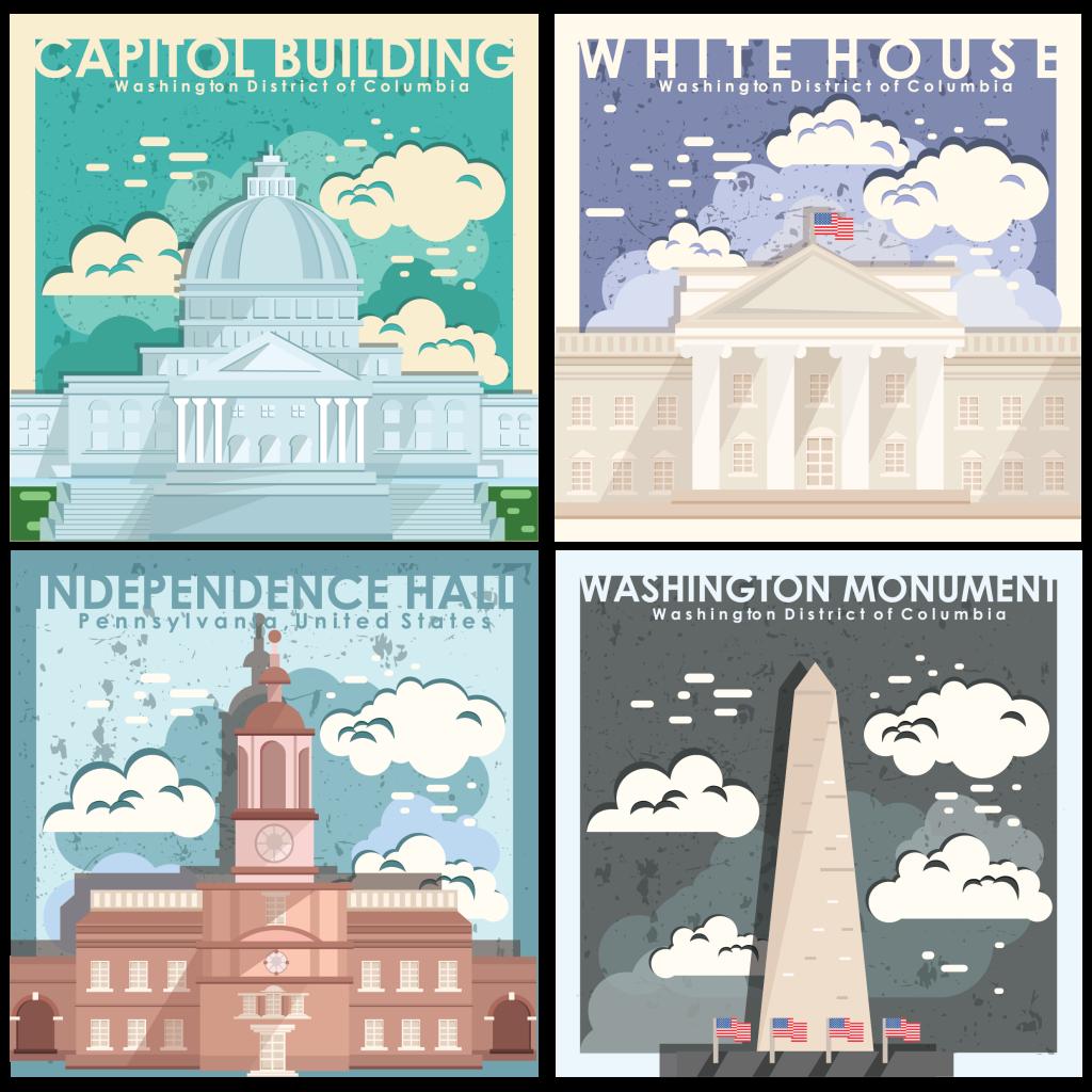 US monuments wallpaper