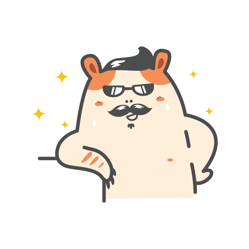 cartoon hamster sunglasses