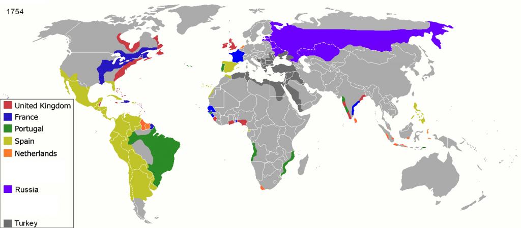 first wave of European colonization map
