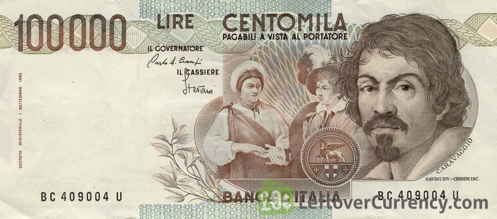 italian-lira-bank-note-caravaggio