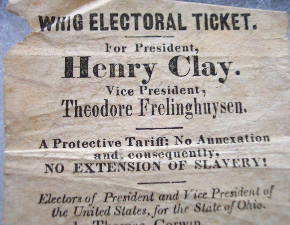 Whig electoral ticket