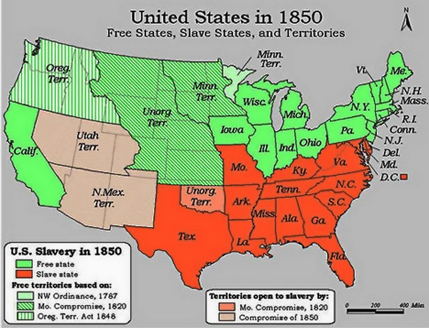 slave states 1850