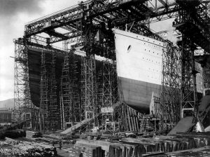 Titanic at Harland and Wolff