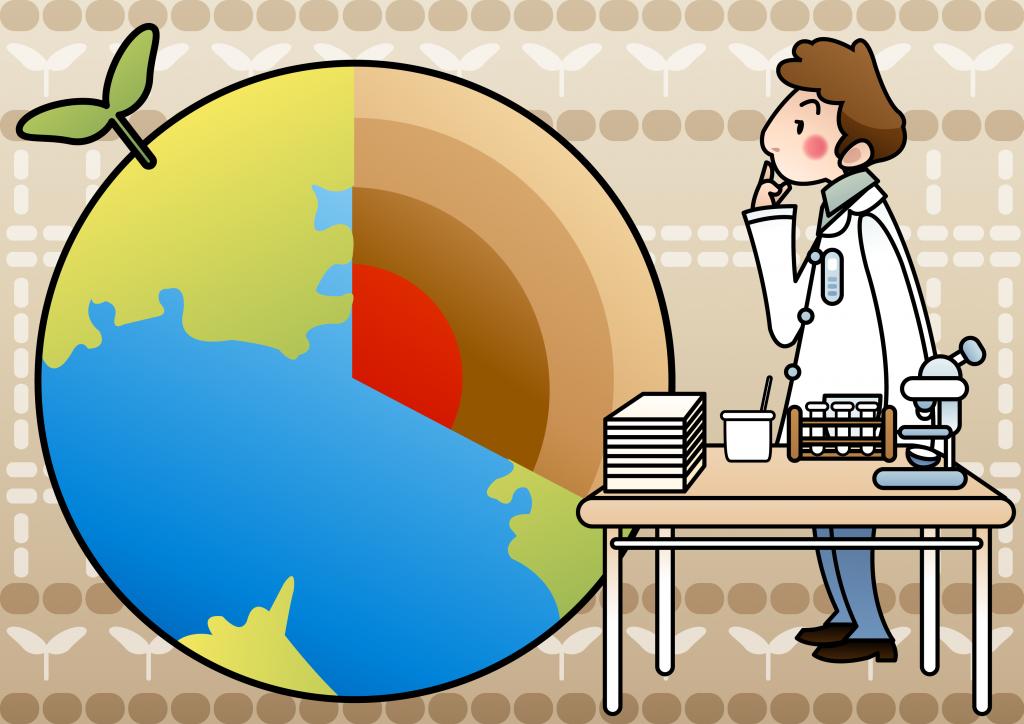 layers of the earth cartoon