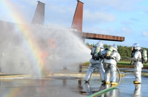 spraying water makes a rainbow