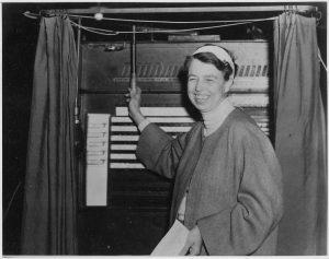 Eleanor Roosevelt voting