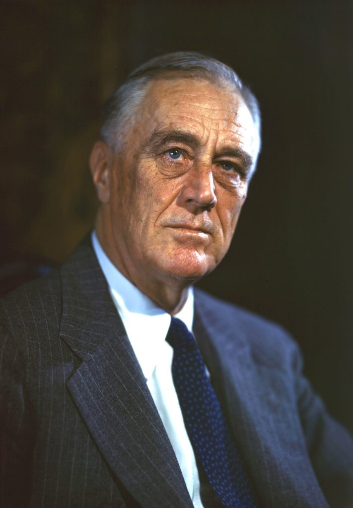 Franklin D Roosevelt painting