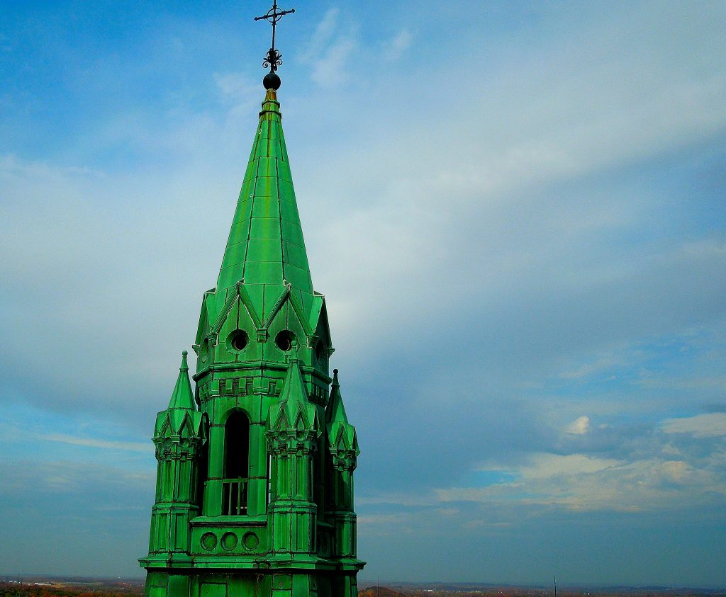 green copper steeple