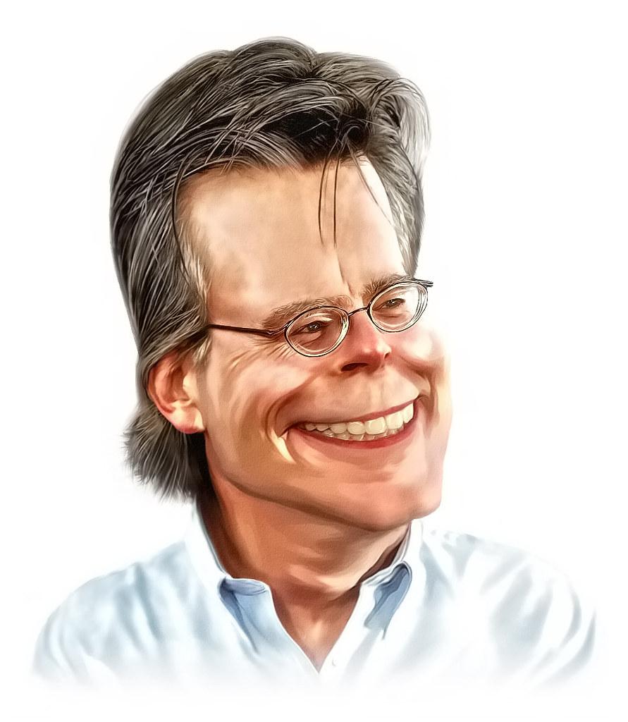 Stephen King caricature