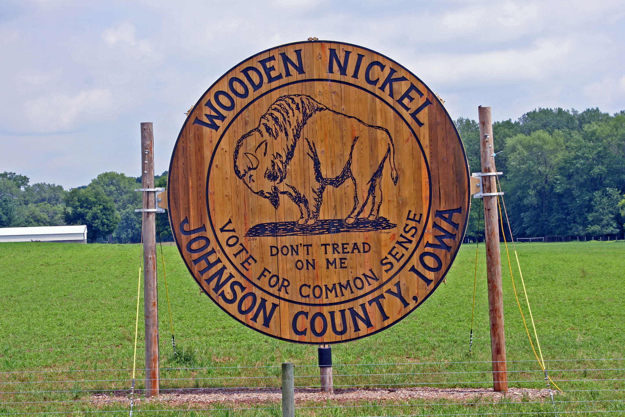 world's largest wooden nickel