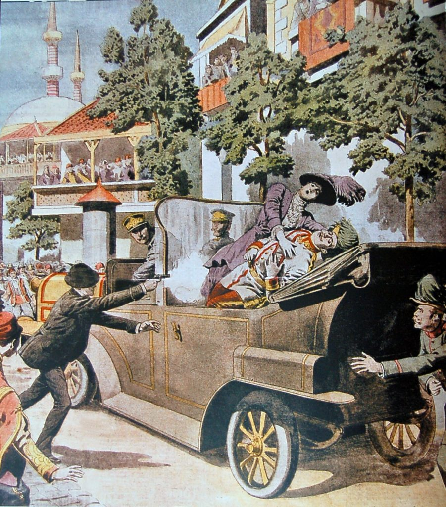 Franz Ferdinand killed by Gavrilo Princip