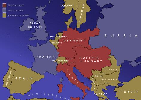 Triple Entente map