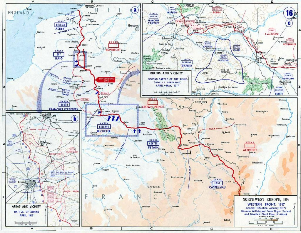 Western Front 1917 map