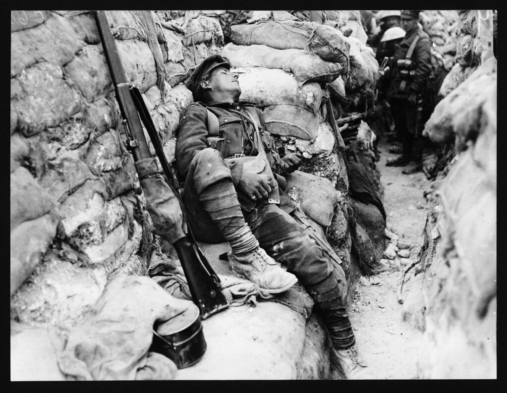 world war 1 solider sleeping