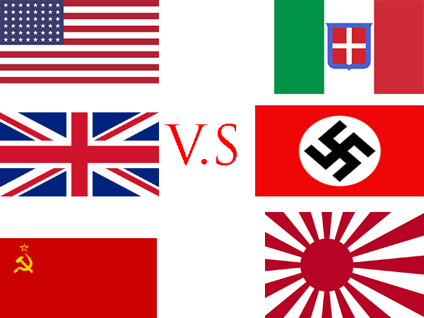Allied Powers vs Axis Powers WW2