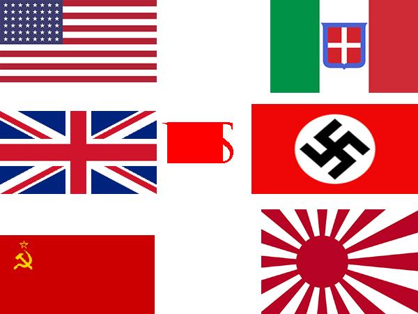 Allied Powers vs Axis Powers WW2