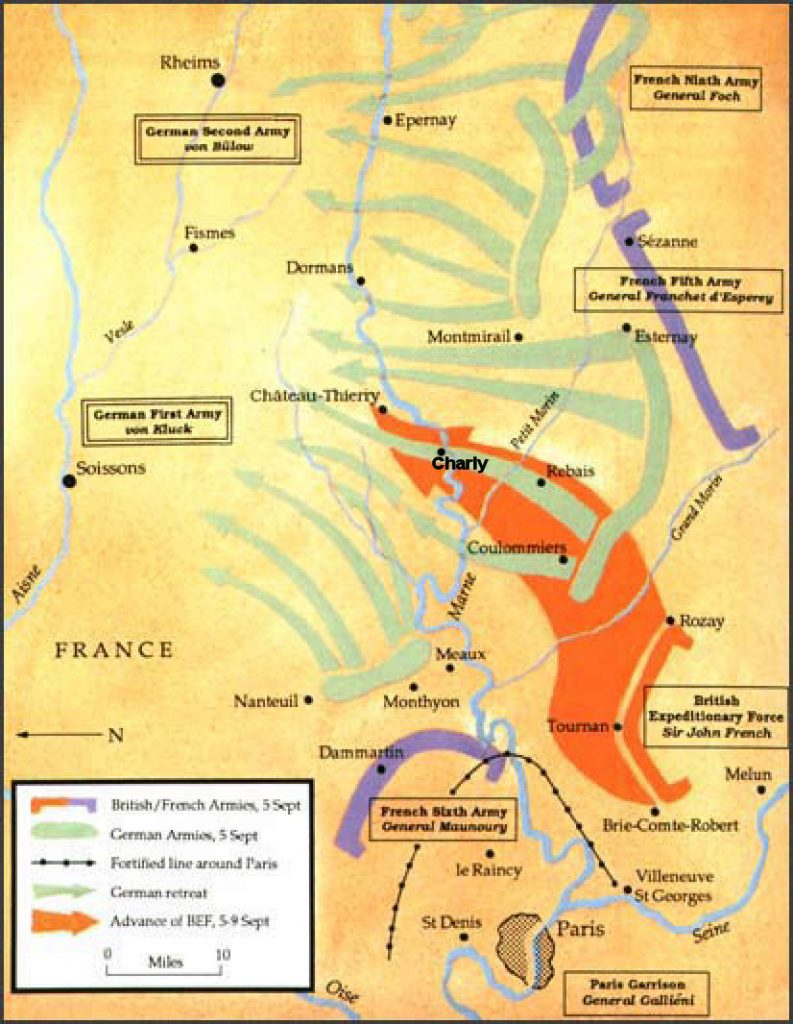 Battle of the Marne map