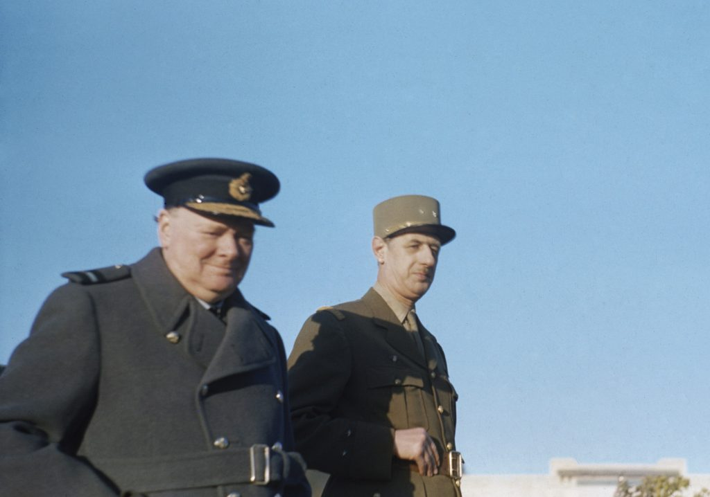 Churchill and Charles de Gaulle