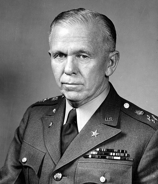 George Catlett Marshall, general of the US army