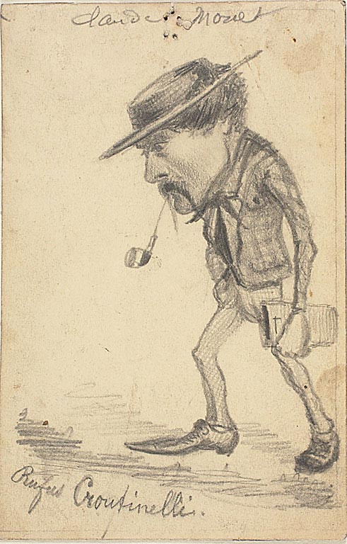 Monet caricature of Henri Cassinelli