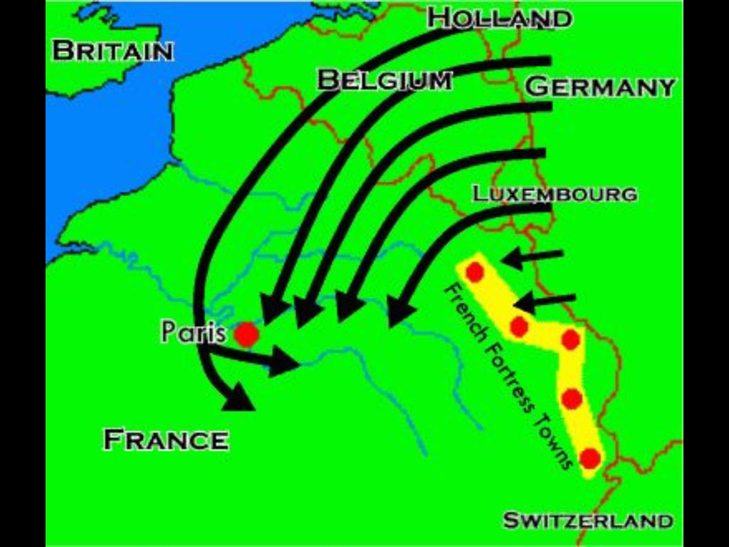 World War 1 German advance plan