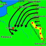World War 1 German advance plan