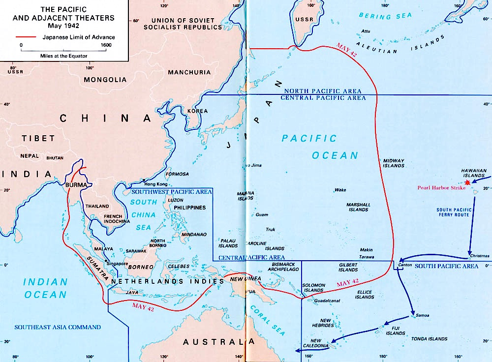 ww2 in the pacific and adjacent areas