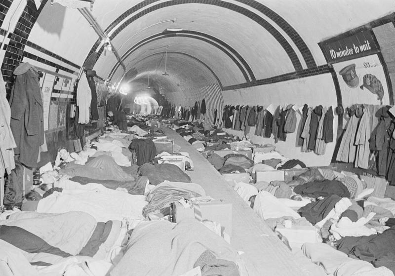 London underground air raid shelter