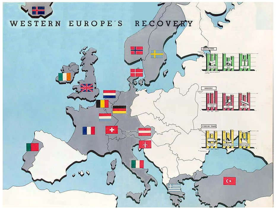Marshall plan countries map