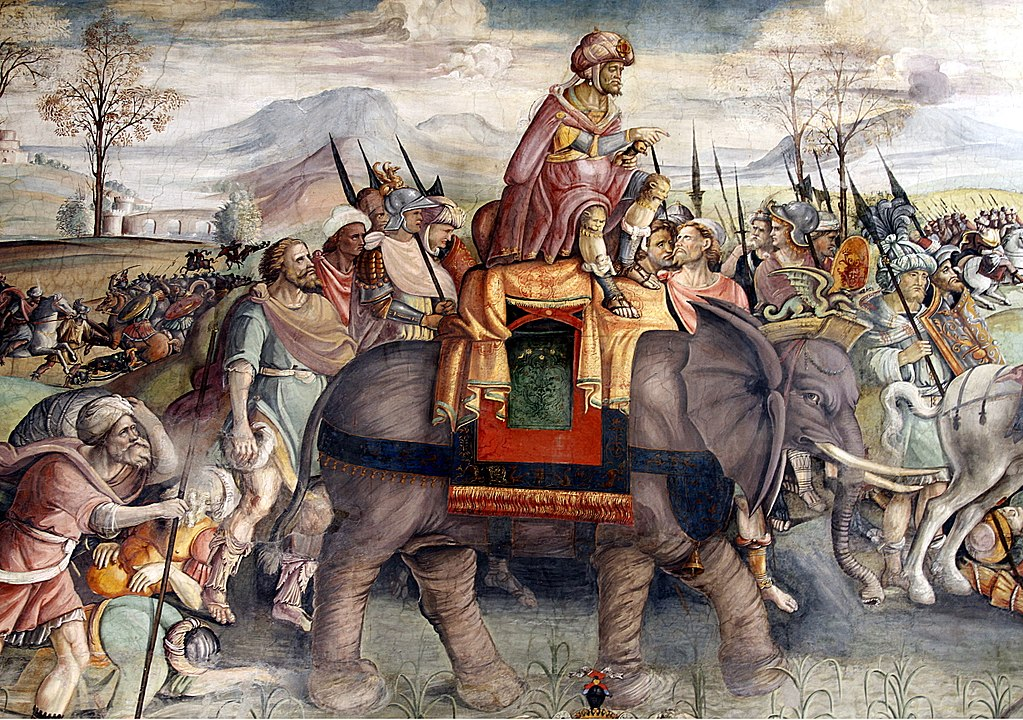 Hannibal in Italy on elephant