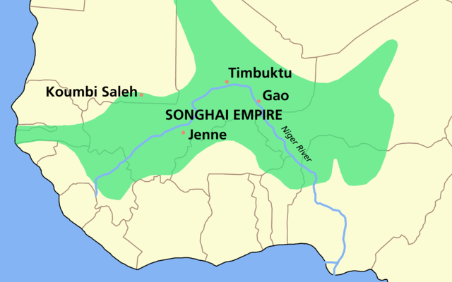 Extent of the Songhai Empire