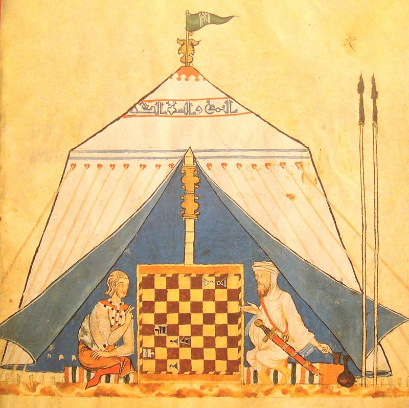 Christian And Muslim Playing Chess