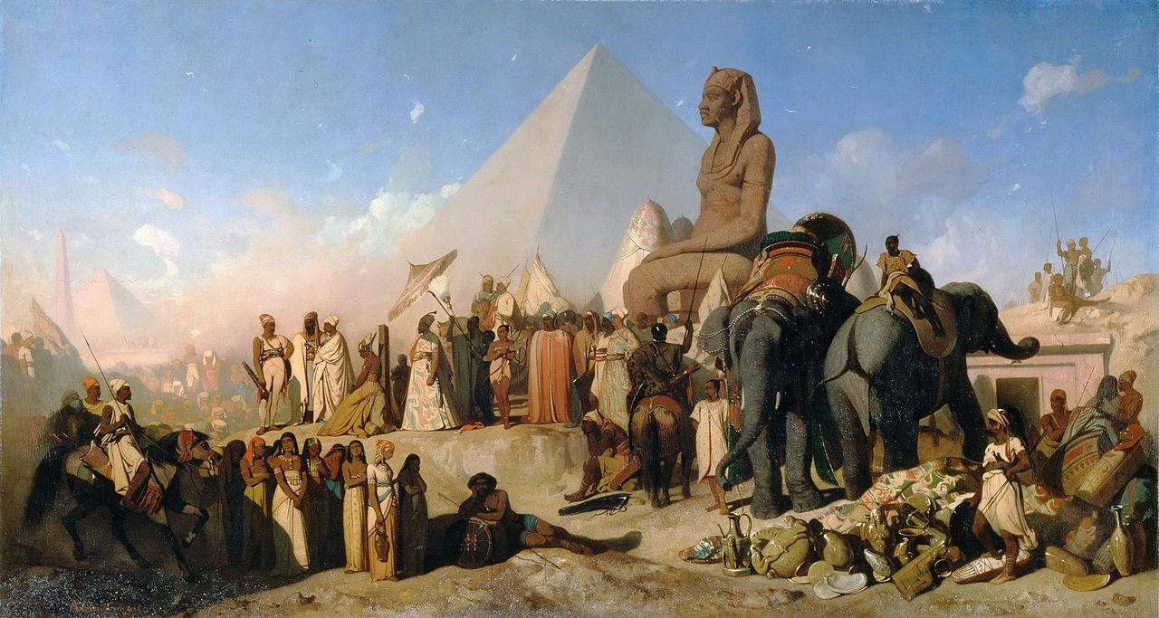 Meeting Between Cambyses II And Psammetichus III