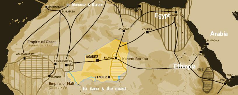 Niger Saharan Medieval Trade Routes